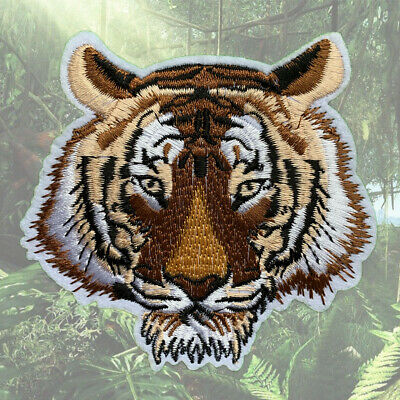 1pc Tiger Jungle Embroidered Patch Cloth Iron On Applique craft sewing #1264