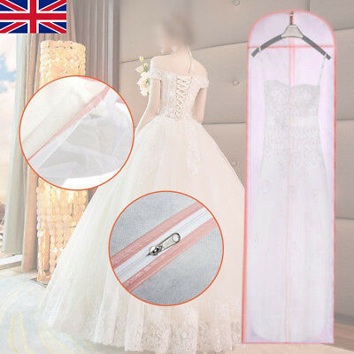 Wedding Prom Ball Gown Cover Long Dance Dress Bridal Dust Bag Protectors Zip TH