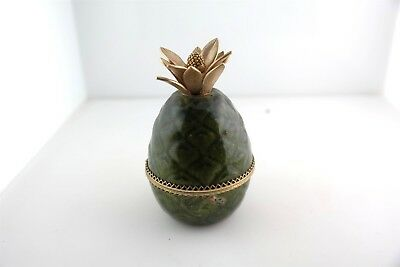 Vintage Evans Pineapple Green Enamel Cigarette Lighter