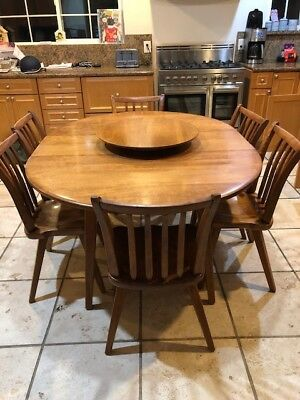 Genuine Cushman Colonial Dining Table and Chairs - very good condition