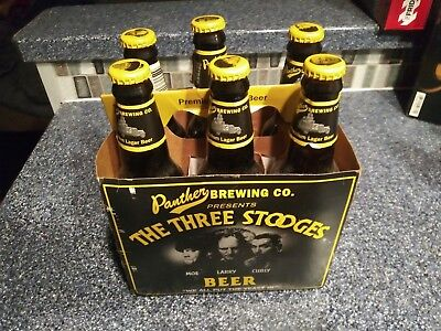 Panther Brewing Company Three Stooges Premium Lager Beer 6 Pack Unopened
