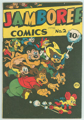 Jamboree Comics #2 The Round Publishing 1946 Off White Pages Complete FN/VF-