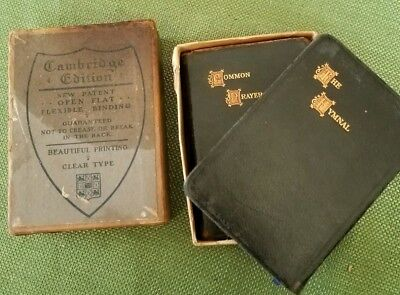 C. 1800's Cambridge Edition Prayer Book and Hymnal Original Box Rare