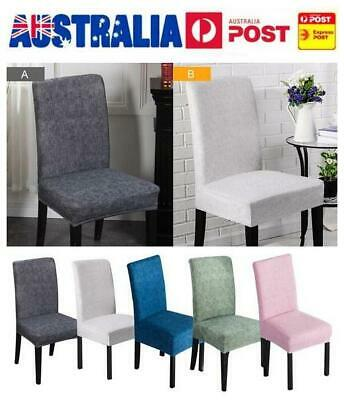 1/2/5Pcs Stretch Dining Chair Cover Removable Slipcover Washable Banquet Event
