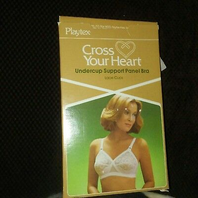 1984 Playtex Cross Your Heart Under Cup Support Panel Bra Lace 40B white nib