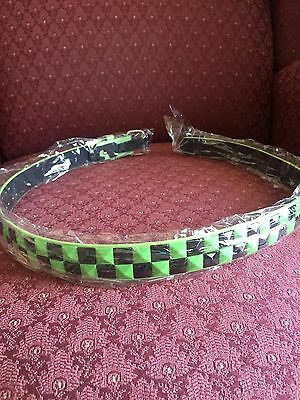 Girls GREEN/BLACK Pyramid Studded Belt Size L 28-30 Inch New