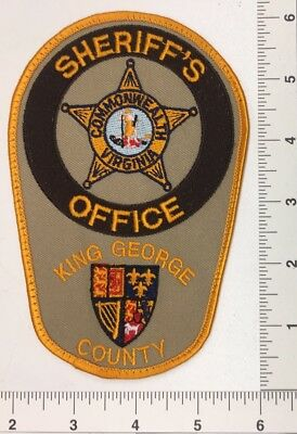 Vintage King George County Virginia Sheriffs Patch