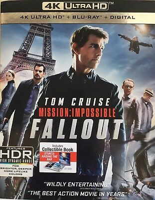MISSION IMPOSSIBLE ~ FALLOUT ~ 4K ULTRA HD + Blu-Ray + Digital *New *Sealed