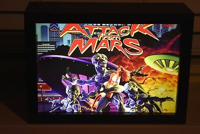 Chicago Gaming-Attack From Mars Lighted Shadow Box