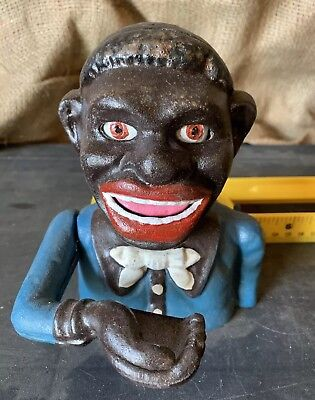 Black Americana Cast Iron Mechanical Bank