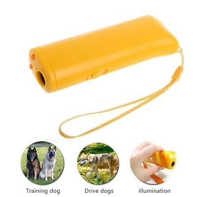 HOT Pet Dog Ultrasonic Repeller Aid Stop Anti Barking Device Training US#OB^