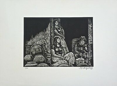 Raul Anguiano signed etching - super rare