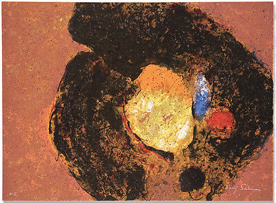 """Baruj Salinas etching """"Arcano"""", signed, 35 museum shows, 100+ solo shows!"""
