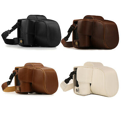 MegaGear Canon EOS M50 (15-45mm) Ever Ready Leather Camera Case and Strap