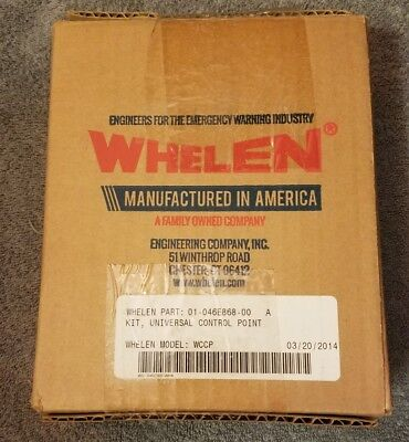 Whelen  01-046E868-00  Universal Control Point Kit  Wccp  Wecan 6  New In Box