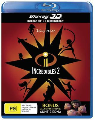 THE INCREDIBLES 2 (2018) Region Free [Blu-ray 3D + Blu-ray] Craig T. Nelson