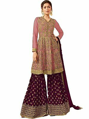 Indian Designer Partywear Pink Georgette Stitched Ethnic Dress Salwar Kameez