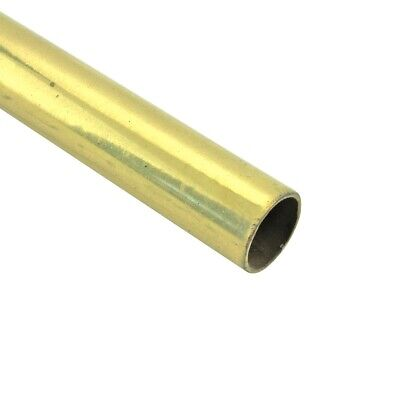 "Smooth Bright Brass Stair Carpet Rod Tubing 1/2""OD 36"" 