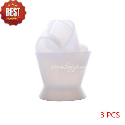 3 Pcs Dental Lab Silicone Mixing Cup Acrylic Dappen Dish Flexible NonStick Bowl