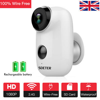 1080P Outdoor Battery Powered IP Camera 100% Wire-Free 2 Way Audio Security Cams