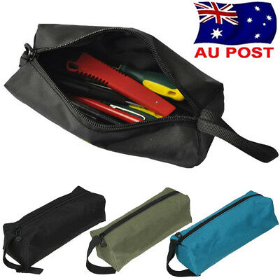 Small Metal Parts Tools Storage Bag Canvas Utility Pouch Carry Case Organiser AU