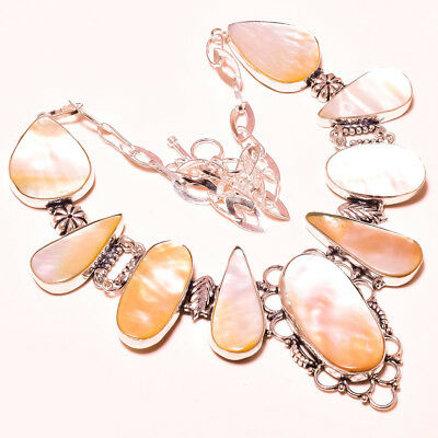"""Outstanding Design Mother Of Pearl Vintage Style Jewelry Gemstone Necklace 18"""""""