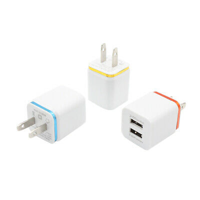 Universal Dual Ports 2-in-1 USB Charger Travel Adapter Wall Charger US Plug
