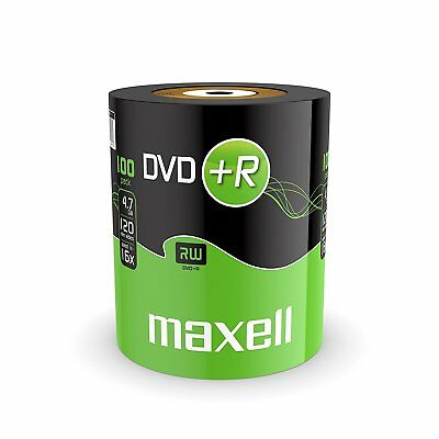 100 Stück Maxell DVD+R 16x Rohlinge 4,7 GB in Folienverpackung