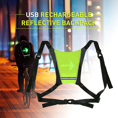 Bicycle Accessories Waterproof Nylon Rechargeable Cycling Bicycle Led Wireless Safety Turn Signal Light Vest Riding Night Guiding Bike Accessories Bicycle Light
