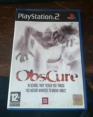 OBSCURE - SONY PLAYSTATION 2 PS2 CASE plus Front and Back inserts only - No disc