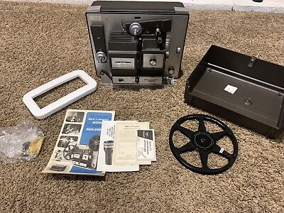 Vintage Bell & Howell 456A Autoload 8mm -Super 8 Projector + extras FREE SHIP!