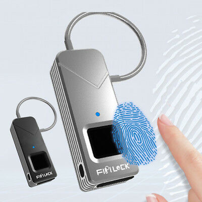 Smart Fingerprint Unlock Anti-Theft Padlock Cabinet Drawer Luggage Case Lock