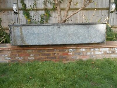 galvanised garden  planter