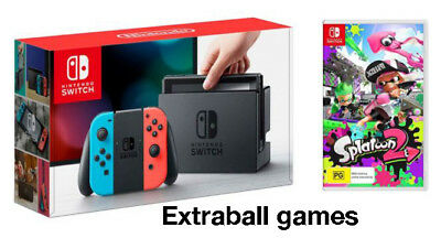 Nintendo Switch Red And Blue Joy-Con + Splatoon 2