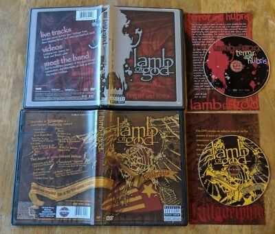 Lamb of God DVD Lot - Terror And Hubris & Killadelphia - Complete - $3 S/H!