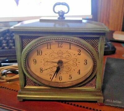 Vintage Westclox Dial-lite Alarm Clock Shabby Chic Made In Usa