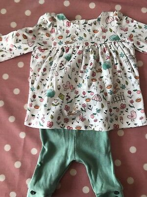 M&S Baby Girl Woodland Long Sleeved Outfit Set First Size Up To 1Month