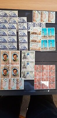 Dubai stamps selection of early Blocks used