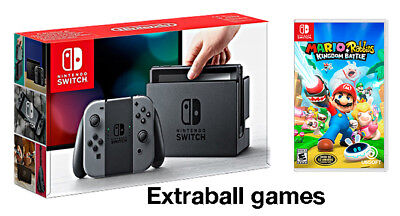 Nintendo Switch Gris + Mario Rabbids Kingdom Battle