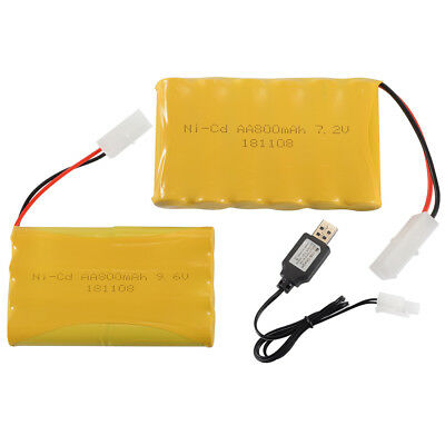 7.2V/9.6V 800mAh Rechargeable Ni-Cd AA Battery Pack KET Plug for Toys Electric