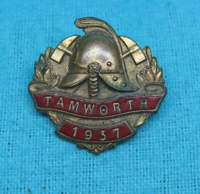 1937 Tamworth Australia Fire Fighter Department Brigade Station Enamel Badge