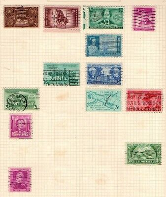 United States USA 1948 1950 Commemorative selection 13 stamps Used