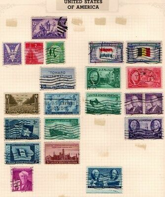 United States USA 1940 1946 Commemorative selection 21stamps Used