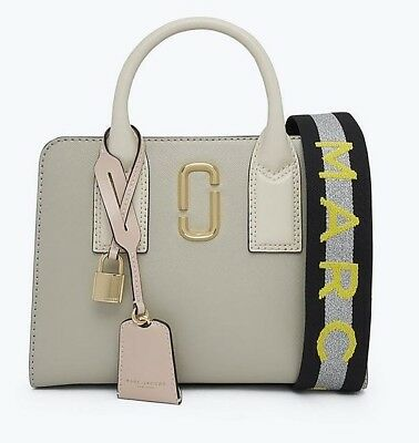 Marc Jacobs Little Bigshot Big Shot Leather Bag Dust Multi AUTHENTIC New  Grey 7a4f83dfaa8bf