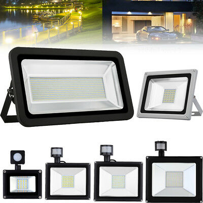 PIR LED Floodlight 10W 20W 30W 50W 100W 300W 500W Outdoor Security Light 12V