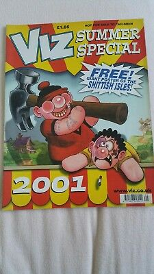 VIZ - ADULT COMIC - SUMMER SPECIAL 2001 c/w Pull Out Sh***sh Isles Poster