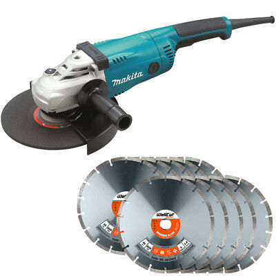 Makita GA9020 9in/230mm Angle Grinder 240V With 230mm 10 Extra Diamond Blades