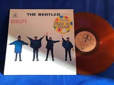 The Beatles Help 1978 France Dc 25 Colored Lp Exc+