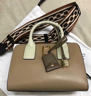 Marc Jacobs Little Bigshot Big Shot Leather Bag French Grey AUTHENTIC New  Taupe 8f21335f1d071