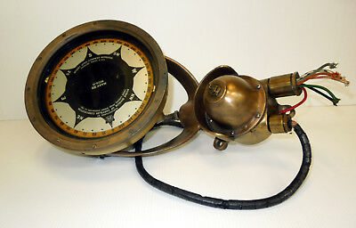 ANTIQUE SPERRY Mark XV Brass Naval Ships Gyro Compass Repeater Nautical Boat 2